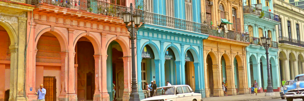 Oldtimers driving in Havana, Cuba