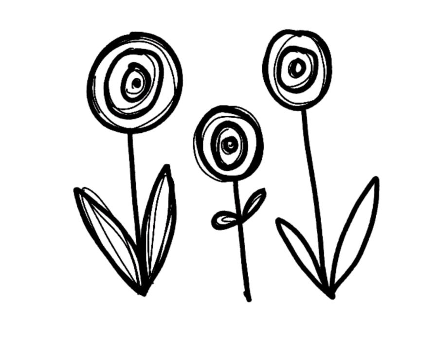 Bible art journaling_flowers