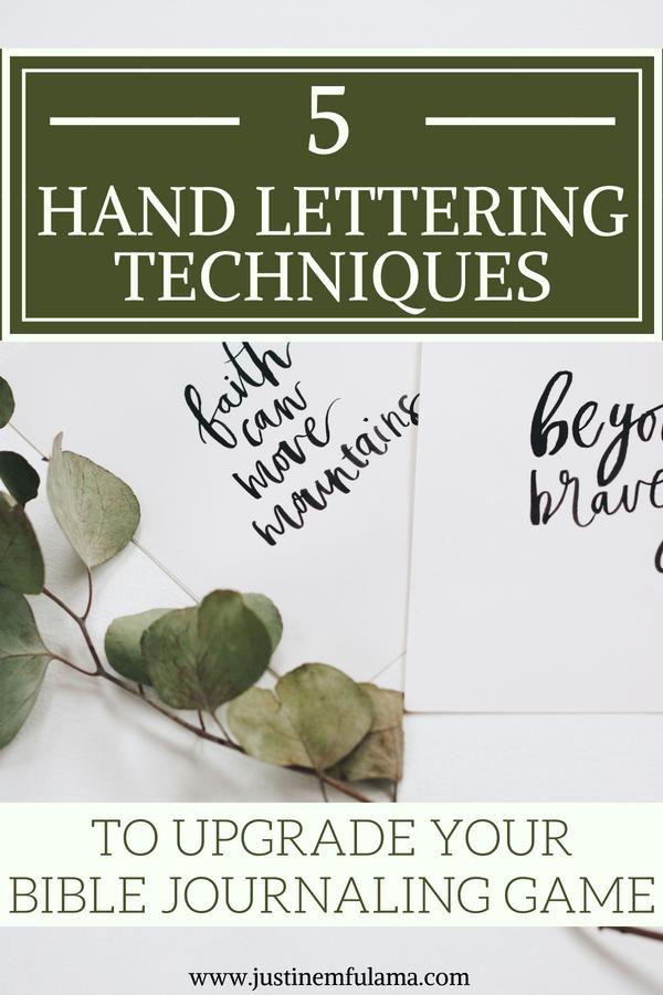 Hand lettering techniques