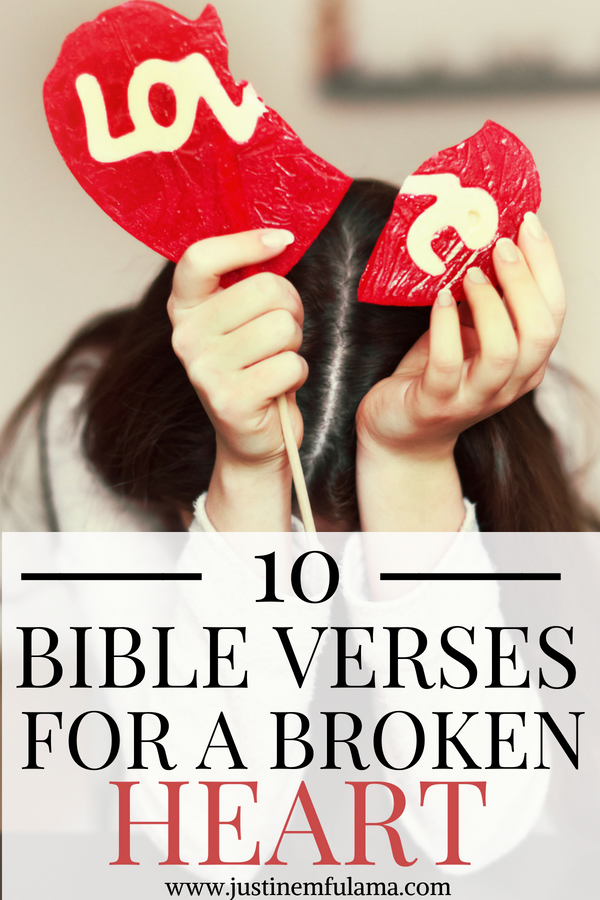 what the bible says about a broken heart