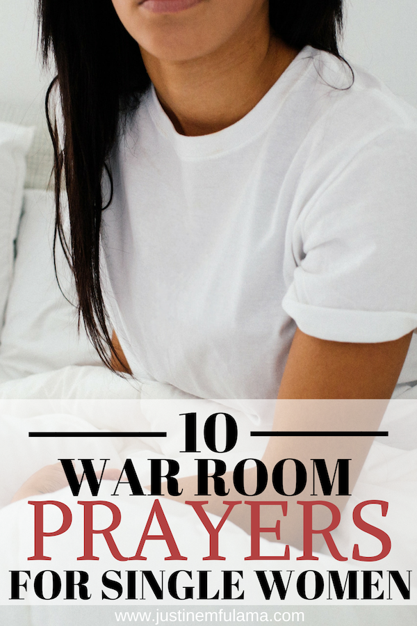 10 war room prayers for single women